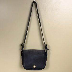 Coach purse black small vintage bag